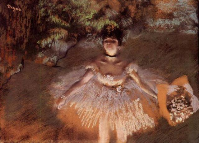 2nd April - Edgar Degas - Dancer Onstage with a Bouquet