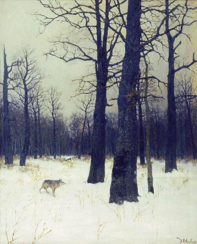in-the-forest-at-winter-1885