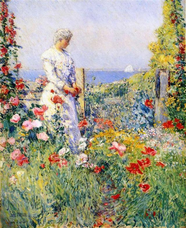 in-the-garden-aka-celia-thaxter-in-her-garden